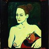 """Lady with pomegranate"" (oil on cardboard) by Evgeny Kovalchuk"