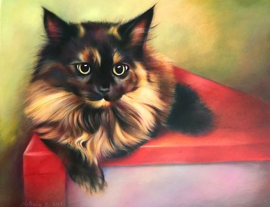 """""""Unconditional Love"""" (colored pencil, pastel) by Nathalie Beck"""