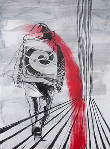 """""""Samurai"""" (oil) by Yan Chajka"""