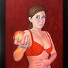 """The offering or self-portrait as a modern Eve"" (oil) by Natasha Sazonova"
