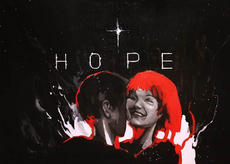 """Hope"" (acrylic on canvas) by Anastasia Gorbaneva"