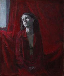 """""""Outside the window"""" (oil) by Daria Ivanilova"""