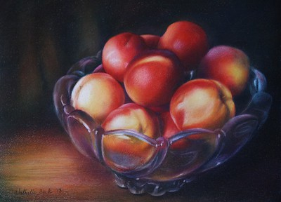 """""""Together and Protected"""" (colored pencil) by Nathalie Beck"""