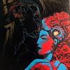 """burning yourself, light the others"" (oil on canvas) by Svetlana Razguliaeva"
