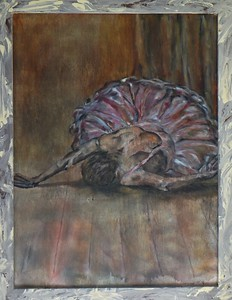 """""""Crumbled Dancer"""" (oil on wood panel) by Vincent Bologna"""