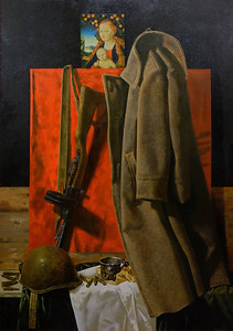 """""""Soldier's burden."""" (oil on canvas) by Tanya Fomkina"""