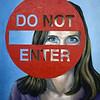 """Self Portrait"" (oil) by Siri Stensberg"