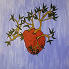 """Let Love Grow"" (acrylic) by Laura Romberger"
