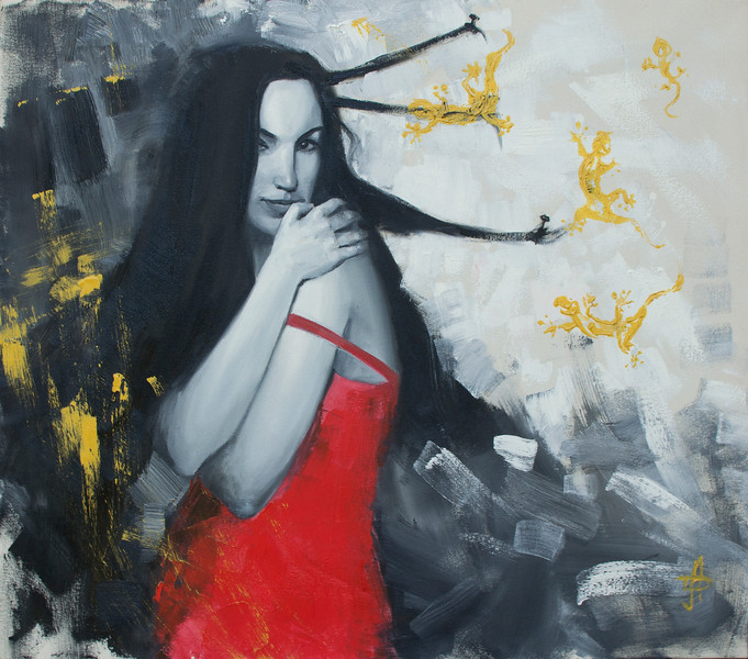 """Phobia"" (oil) by Hanna Davydchenko"