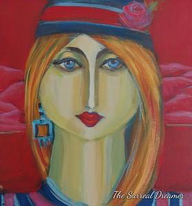 """Surreal dreamer"" (acrylic) by Luciana Fabiilli"