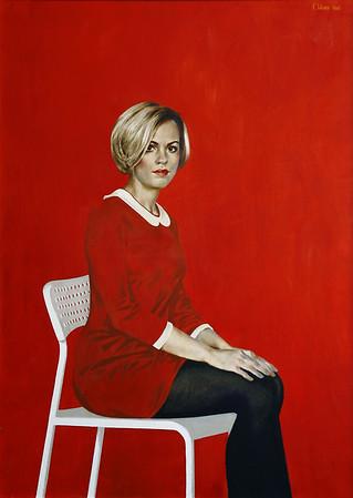 """""""Portrait of blondie."""" (oil) by Gennadyj Isaev"""