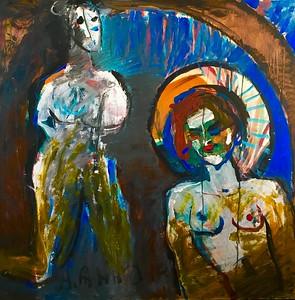 """""""Red pomade"""" (oil on canvas) by Anna Abidina"""