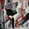 """City"" (tempera, collage) byEvgenia Shabalina"