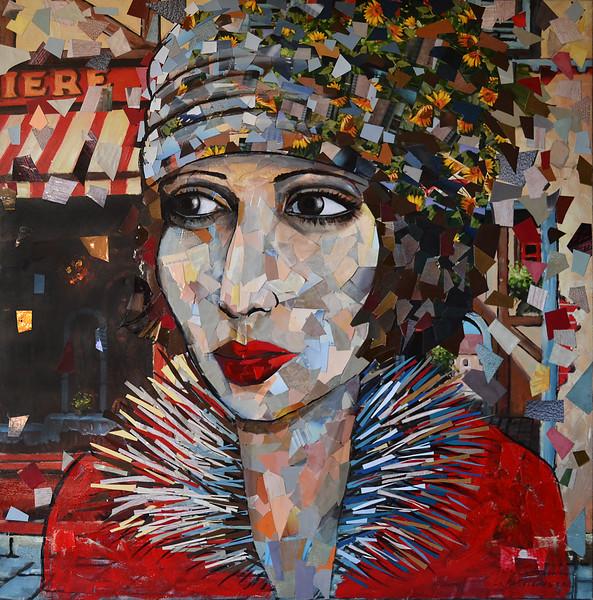"""""""La Parisienne"""" (collage) by Natasha Sazonova"""