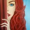 """Silence Red"" (oil) by Adriana Calichio"