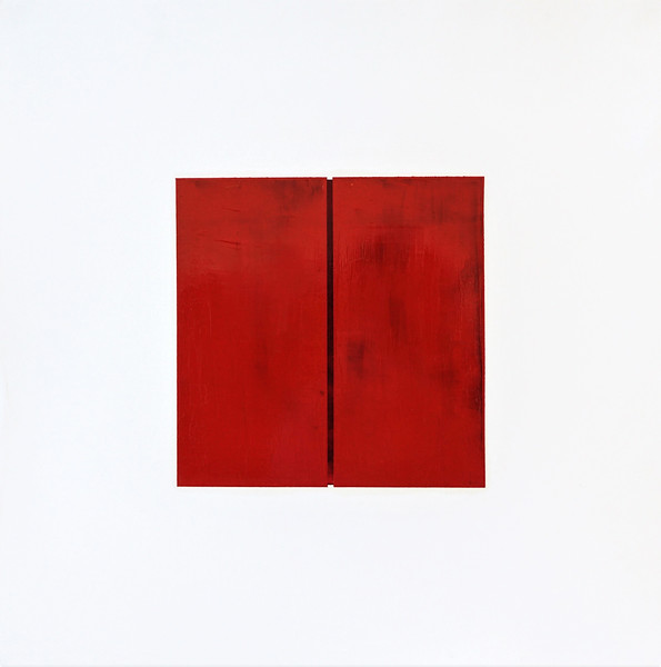 """Who's afraid of the name of Jesus (homage to Barnett Newman)"" (oil on panel) by Ye Chan Cheong"