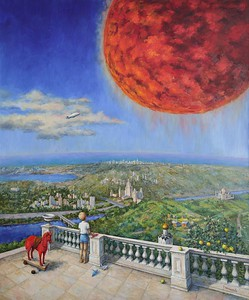"""""""Dream of the red planet"""" (oil on canvas) by Tatiana Chepkasova"""