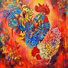 """Important Meeting"" (acrylic on canvas) by Marianna Ochyra"