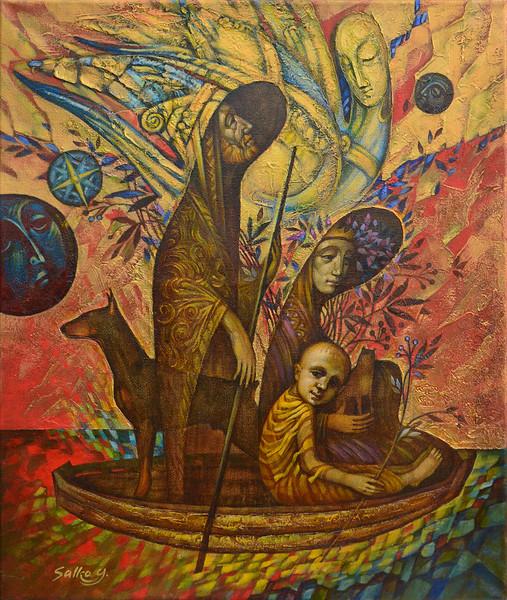 """""""The Ark"""" (acrylic on canvas) by Yury Salko"""