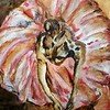 """Dancer in Pink"" (oil on wood panel) by Vincent Bologna"