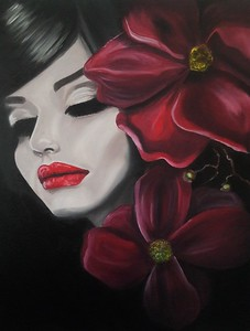 """""""Touch of Red"""" (oil) by Adriana Calichio"""