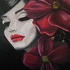 """Touch of Red"" (oil) by Adriana Calichio"