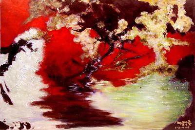 """Autumn"" (acrylic) by Lei Feng"