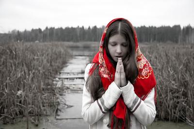 """Pray"" (photography) by Alexandra Evstigneeva"