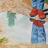 """""""The Red Boots"""" (oil) by Louis Degni"""