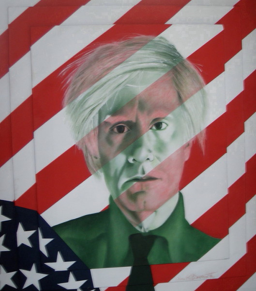 """""""Andy Warhol"""" (oil) by Anna Beverwijk"""