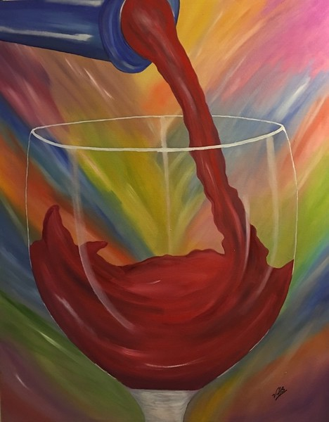 """Red Wine"" (oil) by Vivian Antonini"