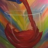 """Red Wine"" (oil) by Vivian Antonini"