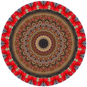 """The Steadfastness of Kabir: Kabir's Grace"" (digital photography on glass) by Stephen Calhoun"