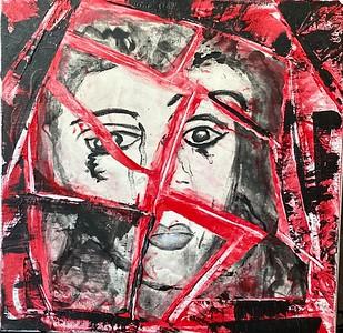 """Broken"" (mixed media) by Debraida Anselmi"