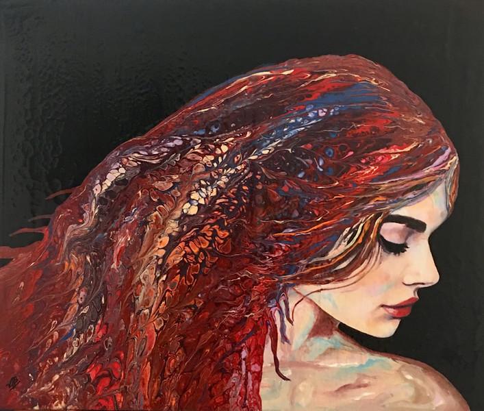 """""""Kaleidoscope Lady"""" (acrylic, mixed media, resin) by Vivian Antonini"""