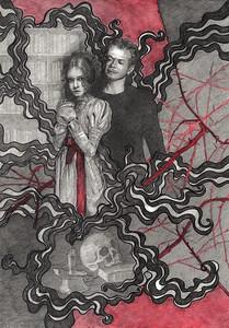 """""""Apprentice of passion"""" (graphite and watercolor) by Daria Buniak"""