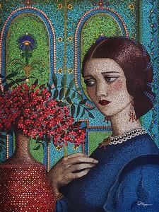 """""""Agatha"""" (acrylic) by Liza Thompson"""