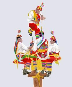 """""""Los Voladores"""" (digital painting) by Vanessa Gonzalez"""