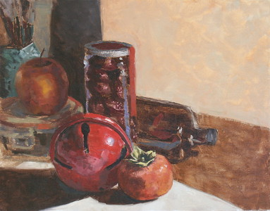 """Red Bell"" (oil) by Jennifer Gano"