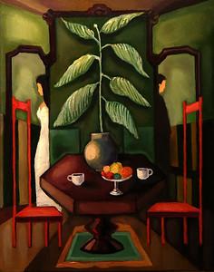 """Quarrel (rus. Ссора)"" (oil on canvas) by Aleksandr Gilyarevskiy"