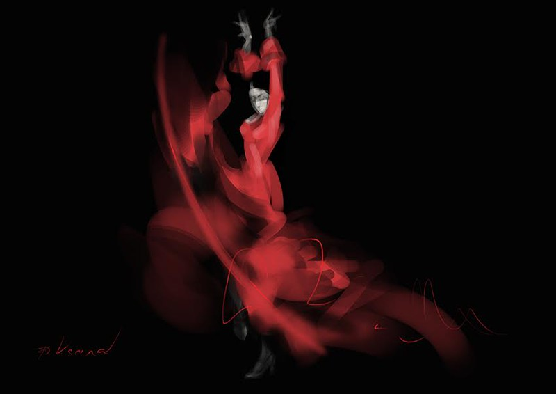 """Flamenco"" (digital painting) by Oksana Domasych"