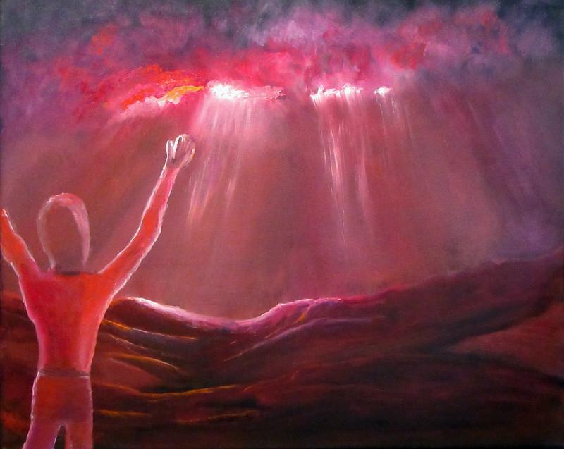 """""""Earth Sun Joy"""" (oil) by Eldon Case"""