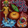 """Incarnadine Nucleus"" (oil on panel) by Wayne Ferrebee"