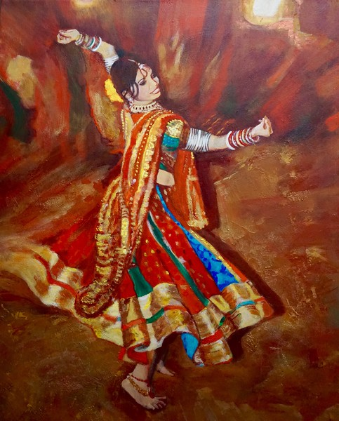 """I could have danced all night"" (mixed media) by Vasu Tolia"