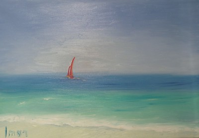 """Caribbean sea"" (oil on canvas) by Marina Ivanova"