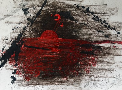 """The USSR nightmares"" (sanguine, ink, acrylic painting) by Vera Kurilo"