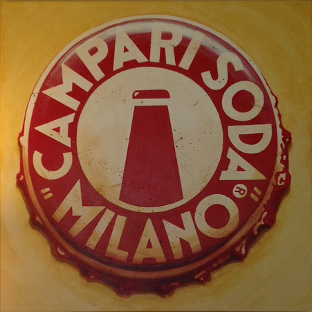 """Campari Soda"" (acrylic) by Bruce Howard"