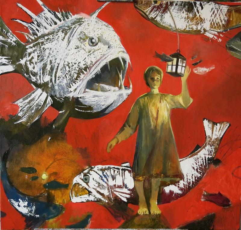 """restless sleep"" (oil on canvas) by Ivan Pokidyshev"