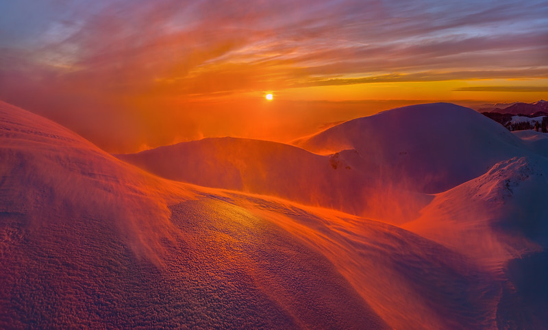 """Snow desert, or a snow storm on a mountain top."" (photography) by 	Fedor Lashkov"