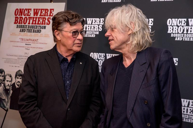 Robbie Robertson, Bob Geldof